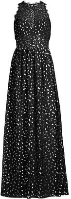Aidan Mattox Illusion Lace Gown