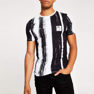 River Island White Masion Riviera muscle fit T-shirt