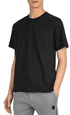 The Kooples Cotton Leather-Logo Tee