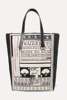 J.W.Anderson Leather-trimmed Printed Canvas Tote - White