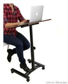 Mind Reader Adjustable Standing and Sitting Laptop Cart