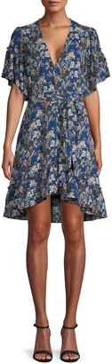 Max Studio Floral Wrap A-Line Dress