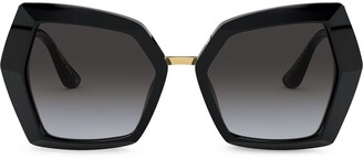 Dolce & Gabbana Eyewear DG Monogram oversized-frame sunglasses