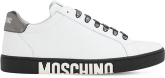 Moschino 25mm Logo Leather Sneakers