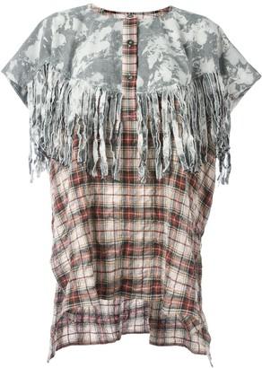 Faith Connexion tie-dye tartan fringed tunic