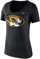 Nike Women's Missouri Tigers Logo Scoopneck Tee