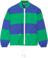 Tory Sport Striped Shell Jacket - Royal blue