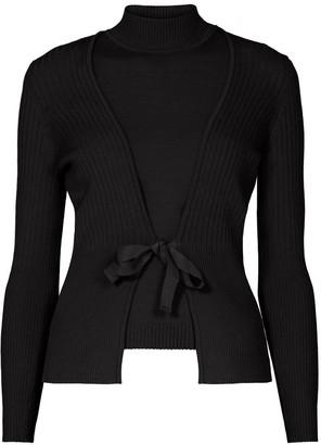 Rumour London Erika and Erin Black Two-Piece Merino Wool Set