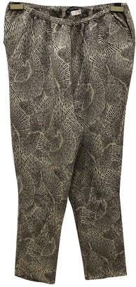Les Prairies de Paris Multicolour Silk Trousers for Women
