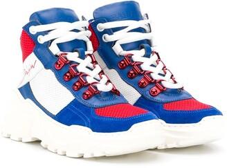 Balmain Kids hi-top sneakers