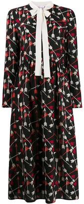 RED Valentino Arrow Print Mid-Length Dress