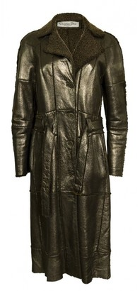 Christian Dior Silver Leather Coats