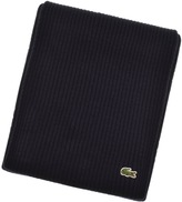Lacoste Merino Wool Ribbed Scarf Navy