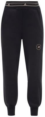 adidas by Stella McCartney Logo-jacquard Organic Cotton-blend Sweatpants - Black