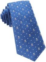 The Tie Bar Royal Blue Skull Dots Tie
