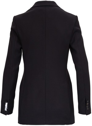 Tonello Double Breasted Black Blazer In Wool Blend