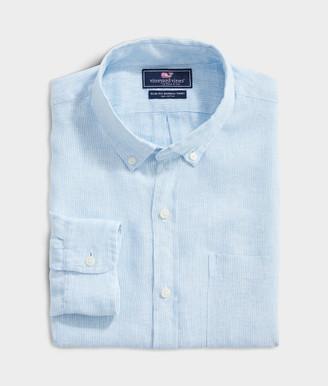Vineyard Vines Slim Fit Paradise Linen Murray Button-Down Shirt