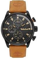Timberland 'Henniker II' Chronograph Leather Strap Watch, 46mm
