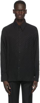 Givenchy Black Silk Loose Fit Shirt