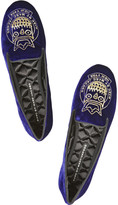 Marc by Marc Jacobs Embroidered velvet slippers