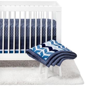 Crib Bedding Set Chevron 4pc - Cloud IslandTM - Navy