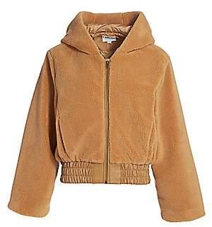 I.AM.GIA I.AM. GIA Women's 717 Teddy Hooded Bell-Sleeve Jacket