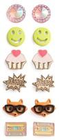 Capelli of New York Girl's 6-Pack Earring Set