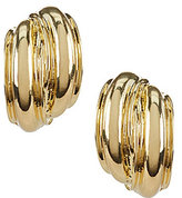 Anne Klein Button Clip-On Earrings