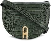 Salar embossed crocodile saddle crossbody bag