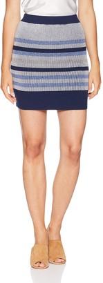 BCBGeneration Women's Plaited Striped Skirt