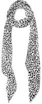 Saint Laurent Leopard-print Silk Crepe De Chine Scarf - Leopard print