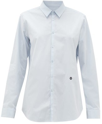 Raf Simons Logo-embroidered Cotton-poplin Shirt - Light Blue