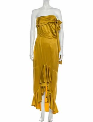 Flor Et. Al Strapless Long Dress Yellow