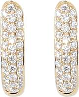 Tamara Comolli Medium Pave Diamond Drop Hoop Earrings