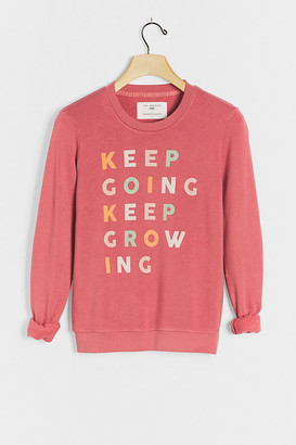 Sol Angeles Keep Going Keep Growing Graphic Sweatshirt By in Purple Size XS