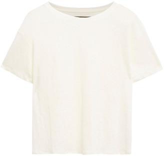 Enza Costa Cropped Linen-jersey T-shirt