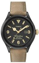 Timex 'Originals' Leather Strap Watch, 40mm