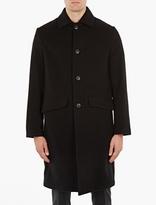 Our Legacy Black Cashmere-Blend Manteau Car Coat