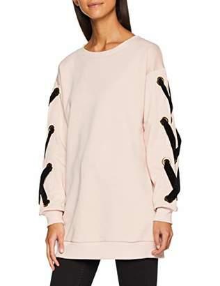 Trussardi Jeans Women's Round-Necked Sweater Sweatshirt, Antique Pink P120, X-Small