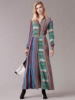 Diane von Furstenberg Long-Sleeve Collared Flare Shirtdress