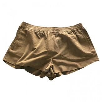 Topshop Tophop Khaki Suede Shorts for Women