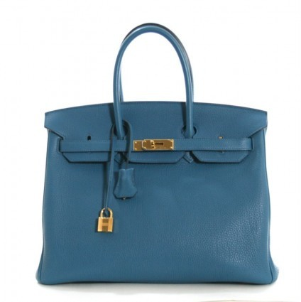 Hermes excellent (EX Cobalt Togo Leather 35cm Birkin Bag
