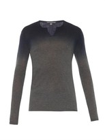 John Varvatos Dégradé Cashmere Long-sleeved Top