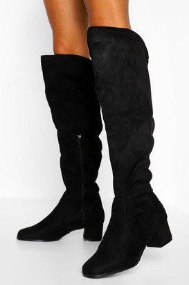 boohoo Wider Leg Wide Fit Over The Knee Boots