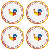 Q Squared Set of 4 Porto Chalé Melamine Bread Plates - Red