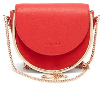 See by Chloe Mara Leather And Suede Small Cross-body Bag - Red