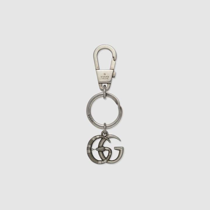 Gucci Double G with snake keychain
