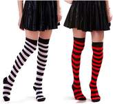 HDE Women's Two Tone Striped Thigh High Stocking Socks