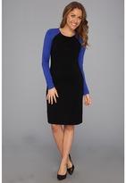 Karen Kane British Blue Sleeve Dress (BLRY) - Apparel