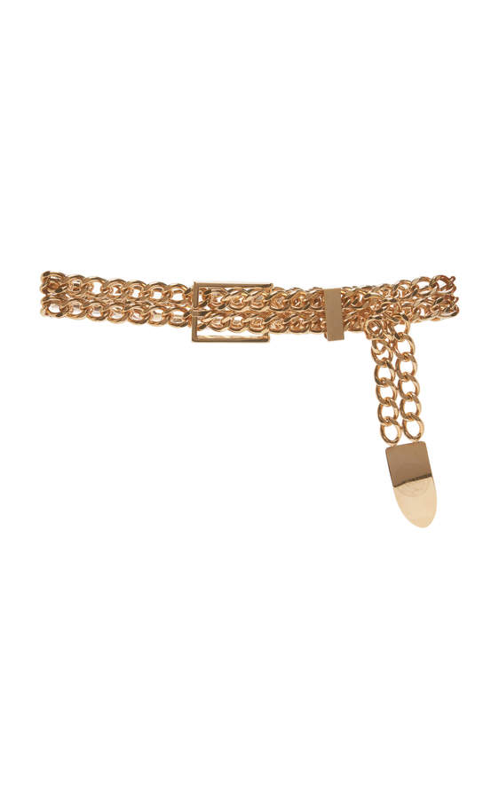 Balmain Low Waist Cowboy Brass Belt